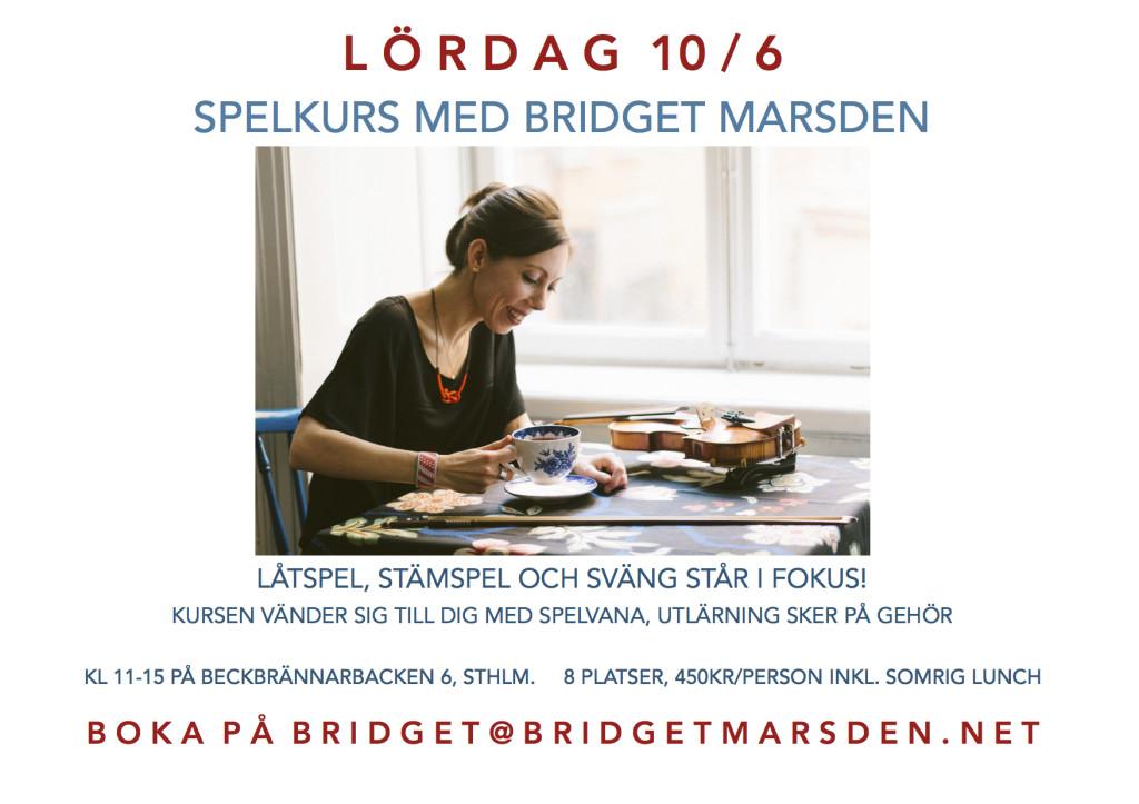 Spelkurs med Bridget Marsden 20170610